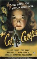 HALLOWEEN CULT HORROR MOVIE POSTER THE CAT CREEPS