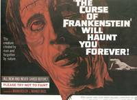 THE CURSE OF FRANKENSTEIN CULT HORROR MOVIE POSTER