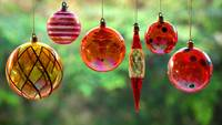 Christmas Glass Ornaments Hanging