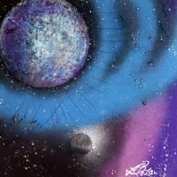 Cosmic Moon Art Prints & Posters by Laura Barbosa
