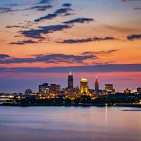 Cleveland Skyline Sunrise by Cody York_4498 Art Prints & Posters by Cody York