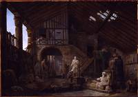 Hubert Robert  Studio of an Antiquities Restorer i
