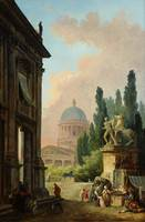 Hubert Robert  Imaginary View of Rome with the Hor