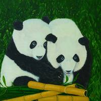 Panda Bears and Bamboo