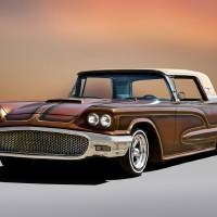 1958 Thunderbird Custom Low Rider II Art Prints & Posters by Dave Koontz