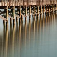 Fulton Fishing Pier II (color) Art Prints & Posters by Dave Wilson