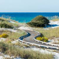 WaterSound Beach Boardwalk Art Prints & Posters by Kurt Lischka
