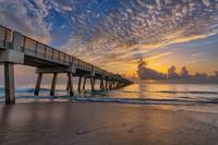 Sunrise at Juno Beach Pier