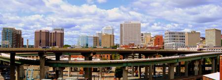 Richmond Skyline Above Interstate 95