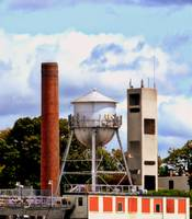 Smokestack and Water Tower in Richmond, Virginia