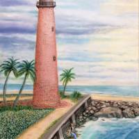 Old Cape Florida Lighthouse Art Prints & Posters by James Davis