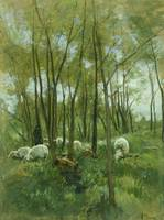 Sheep Herd in a forest, Anton Mauve, 1848 - 1888