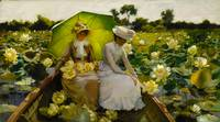 THE LOTUS LILLIES Charles Courtney Curran.