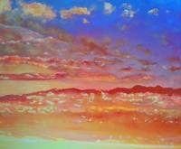 Blue Orange and Pink Skyscape