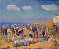 William James Glackens (1870-1938) crowd at the be