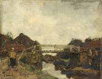 Wooden Bridge across a Canal at Rijswijk, Jacob Ma
