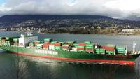 Cargo Ship Arrives Vancouver Ports