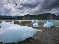 Beached Icebergs, Muir Inlet, Glacier Bay