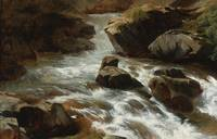 Alexandre Calame , A ROCKY STREAM WITH RAPIDS