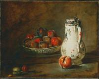 A Bowl of Plums by Jean-Baptiste-Simeon Chardin, c