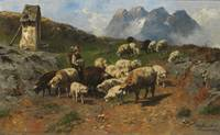 Christian Friedrich Mali - Shepherd boy with sheep