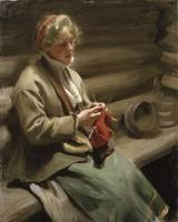 Anders Zorn - Girl Knitting [1901]