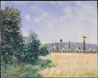 alfred sisley, Sahurs Meadows in Morning Sun