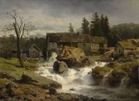 Andreas Achenbach (1815-1910) The Mill Signed and