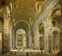 Interior of St. Peter's, Rome by Giovanni Paolo Pa