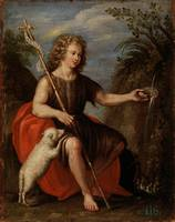 ANONYMOUS Saint John the Baptist XVII century.