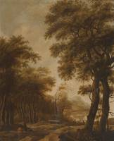 Anthonie Waterloo Figures In a Wooded River Landsc