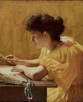 Herbert Wilson Foster - The Yellow Dress [1890]