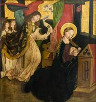 Annunciation (Master of Seitenstetten, around 1490