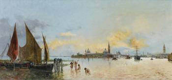 Antonio María Reyna Manescau, View of Venice