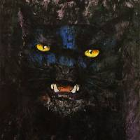 Black on Black Cat Art Prints & Posters by Michael Creese