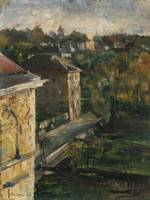 Lovis Corinth 1858 - 1925   VIEW FROM THE STUDIO,