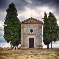 Small Chapel in the Tuscan Countryside Art Prints & Posters by George Oze