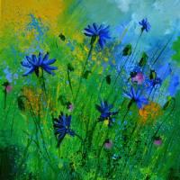 blue cornflowers 4571 Art Prints & Posters by pol ledent
