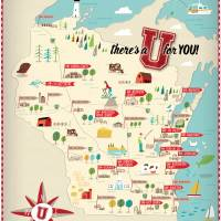 University of Wisconsin by Nate Padavick Art Prints & Posters by They Draw & Cook & Travel