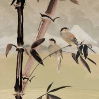 Two Birds in Bamboo Tree Art Prints & Posters by I.M. Spadecaller
