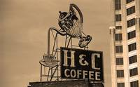 Roanoke, VA - H & C Coffee Sign