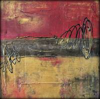 Red and Gold Urban Abstract Painting