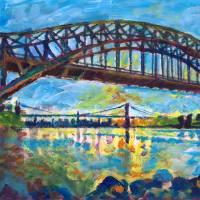 New York City Hell's Gate Bridge Art Prints & Posters by RD Riccoboni