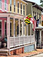 Annapolis MD - Flags Along East Street