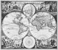 Black and White World Map (1670)