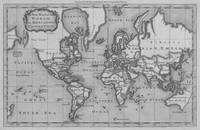 Black and White World Map (1766)