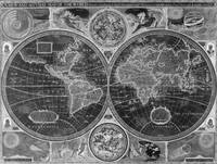 Black and White World Map (1626) Inverse