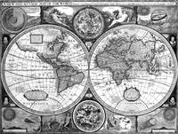 Black and White World Map (1626)