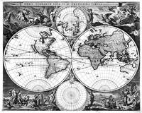 Black and White World Map (1690)