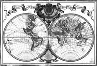Black and White World Map (1720)